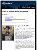 "Image for 'August '11 Issue of ""Wildlife & Times""' announcement."